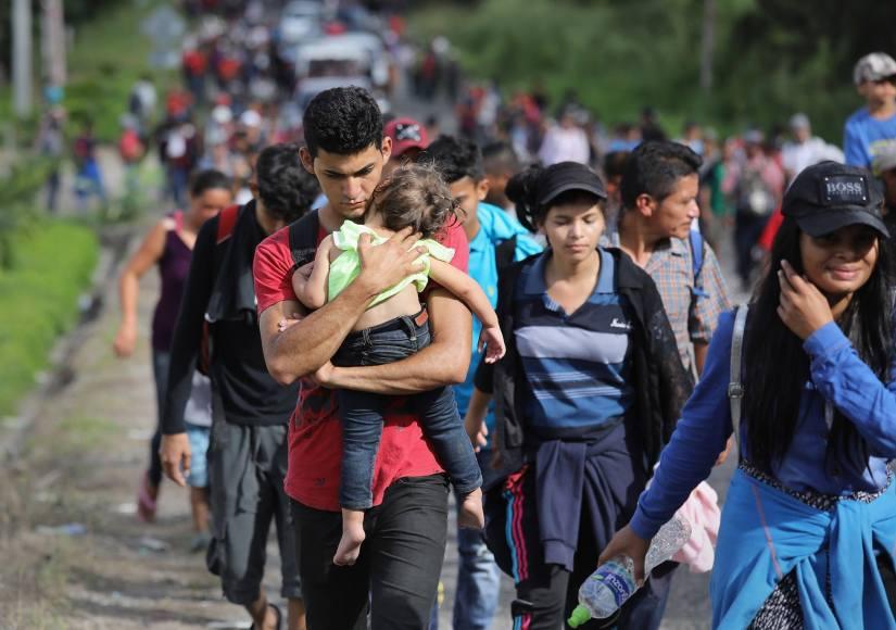 Migrants process in caravan in spirit of salt march, March onWashington